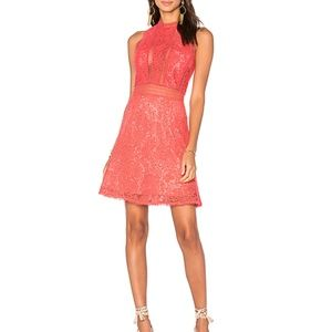 Rebecca Taylor Revolve Coral Arella Lace Dress